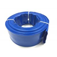 China Blue PVC Layflat Hose Aging Resistant Large Diameter PVC Pipe For Drip Irrigation on sale