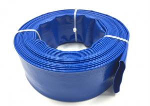 Quality Blue PVC Layflat Hose Aging Resistant Large Diameter PVC Pipe For Drip for sale