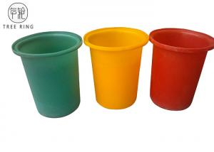 China Round Recycling Hdpe Plastic Bucket  Rotomould Durable Refuse M50L Customized on sale