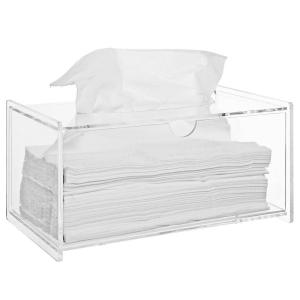 China Modern Clear Acrylic Bathroom Facial Tissue Dispenser Box Cover / Decorative Napkin Holder on sale