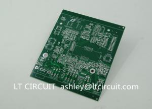 China Double Sided 3oz Blank Copper Pcb Board Immersion Silver Plating Green Solder Mask on sale