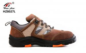 China Brown Unisex Rubber Safety Shoes Kevlar Midsole With Glass Fiber Steel Toe on sale