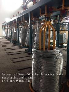 China Hot Dip Galvanized Low Carbon Steel Wire For Armouring Cable Wire Mesh on sale