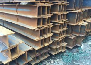 China Structural Carbon H Steel Beams With Grade EN S235JR S355JR , Hot Rolled MS H H Section Steel Beam on sale