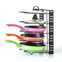 High Quality Height Adjustable Home Kitchen Pot And Pan Organizer Rack