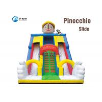 Pinocchio Cartoon Big Air Inflatable Dry Slide Anti Rot For Public Square