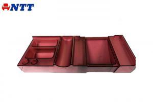 China Mirror Polish Plastic Cover Mold Injection R PET Colorful Pen Box Card Case Desk Organizer on sale