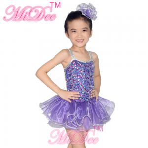 617cf8f47 Midee Kids Dance Clothes Coin Sequin Tutu Skirt Dress With Silver ...