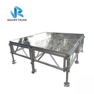 China Swimming Pool Stage Equipment Transparent Acrylic Material For Wedding Shows on sale