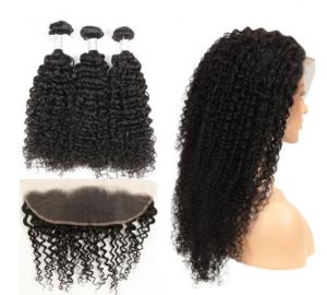 China Natural Color Kinky Curly Hair Extensions Human Hair For Black Women on sale