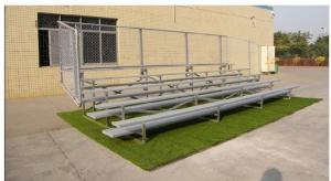 China Durable 3 Row Aluminum Portable Bleachers Grandstand Retractable Bleacher Seating on sale