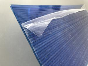 China Blue Polycarbonate Roofing Sheets Lexan / Makrolon Raw Material 6mm Thickness on sale