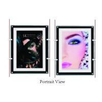 Shop Window Ultra Slim Acylic Crystal LED Light Box For Portrait View Wall Mounted