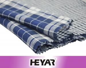 China Indigo Blue White Checks High Quality Cotton Fabrics for Shirts on sale