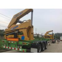 Self Loading Truck Mounted Crane 3 Axle Container For Transportation