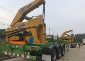 China Self Loading Truck Mounted Crane 3 Axle Container For Transportation on sale