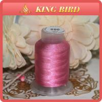 OEM Pink Organic Embroidery  Polyester Bobbin Thread Low Shrinkage 120D