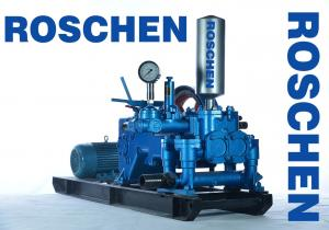 China Blue Horizontal Three Cylinder Mud Pumps For Drilling Rigs RS-120-2 on sale
