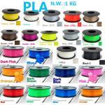 wholesale High intensit pla 3d printer filament Natural raw material pla 1.75 3d plastic filament 1kg impressora 3d f