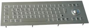 China IP65 Waterproof Compact Stainless Steel Keyboards with Trackball Rugged  for Industrial Kiosk outdoor on sale