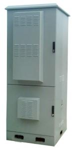 China IP55 Outdoor Telecom Enclosure, Power Supply Cabinet, with Battery Compartment on sale