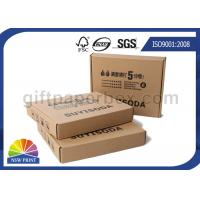 Small Paper Corrugated Cardboard Shipping Boxes / Foldable Paper Storage Boxes