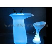 Illuminated Led Furniture / Modern Patio Furniture LED Tables RGB