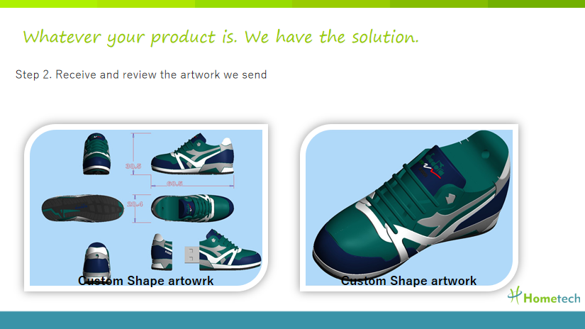 Sneaker Customized USB Flash Drive File Transfer , Personalized Flash Drives outdoor sport shoes