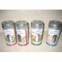 China tin canister, salt canister, seasoning canister, flavor pot, pepper shaker, spice jar on sale