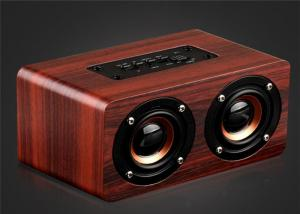 China Wooden Bluetooth Stereo Speaker 10W Wireless Portable Speaker Dual Loudspeakers HIFI Subwoofer with Mic TF Card Slot AUX on sale
