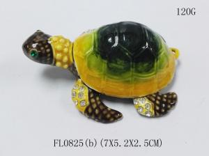 China New coming style turtle shaped crystal trinket box turtle trinket box turtlejewelry box on sale