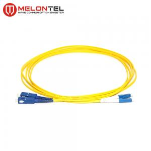 China Duplex Yellow Fiber Optic Patch Cord MT-D1000 With SC - LC UPC Connector on sale