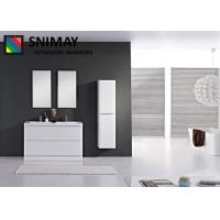 White Double Wall Mounted Bathroom Cabinets Shower Storage MDF board