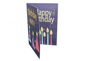 China Four Color Audio Musical Greeting Cards 300gsm Paper A5 Size For Advertising / Gift on sale