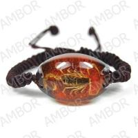 Fashion Jewelry,Real Scorption Men-made Amber Bracelet