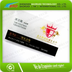 China Printing Transparent Loco Magnetic Stripe Business  Card on sale