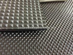 China Car Mat Black Color Rubber Sheet Roll , Rubber Mat Roll 3mm X 1.5m X 15m on sale