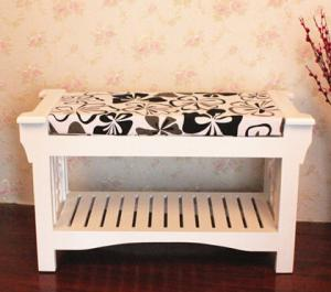 China Korea stely wooden bench for chang shoes on sale
