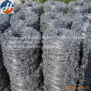 China 0.4mm - 0.6mm Roll  Corrosion Resistant High Tensile Barbed Wire on sale