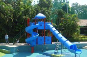 Kids Small Water Slide Swimming Pool Fiberglass Slides 3 Meters