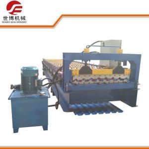 China Galvanized Aluminium Iron Roofing Sheet Roll Forming Machine , Metal Roof Panel Machine on sale