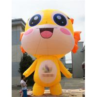 Promotional Activities Yellow Inflatable Cartoon Characters 3 Years Warranty