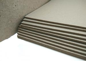 Quality Hard Laminated Paper And GSM Grey Chipboard For Bookcover , 1.2mm Thickness for sale