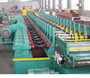 China 2019 new design automatic gear box driving 18kw Galvanized steel metal shutter door frame roll forming machine for sale on sale