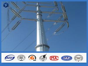 China 10 - 550KV Hot dip Galvanized Overhead Line Electricity Distribution Steel Pole on sale