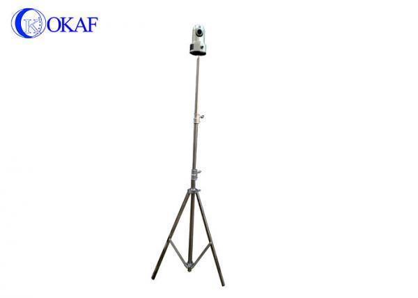Stainless Steel Telescopic Camera Mast , Manual Tripod