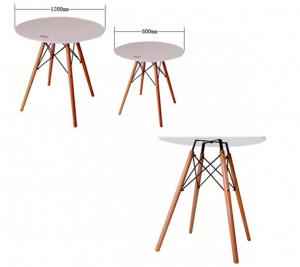 China Kitchen Modern Dining Room Tables , White Round Hardwood Dining Table on sale
