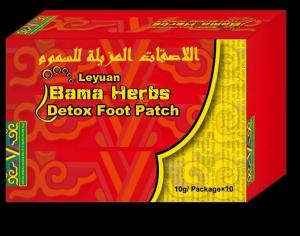 China Leyuan Bama Herbs Detox Foot Patch For Repel Insects And Foot Odor on sale