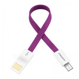 China PISEN 0.02m Multicolor Mobile Phone Flat Micro USB Data Cable on sale