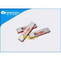 China Plastic Foil Wrapping Paper For Chocolate Bar , Homemade Chocolate Packing Material on sale